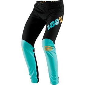 100% R-Core-X DH Pants Herrer, black/cyan